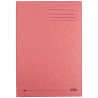 Elba Square Cut Folders, 290gsm, Foolscap, Red, Pack of 100