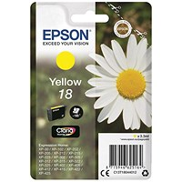 Epson 18 Yellow Inkjet Cartridge
