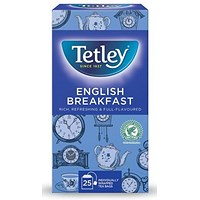 Tetley English Breakfast Drawstring Tea Bags in Envelopes - Pack of 25