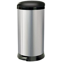 Addis Pedal Bin, Cushion Close, 30 Litre, Stainless Steel