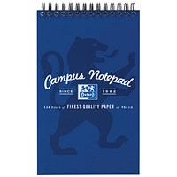 Oxford Campus Card Cover Headbound Reporters Notebook, 125x200mm, 140 Pages, Pack of 10