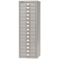 Bisley SoHo 15 Drawer Cabinet - Grey