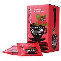 Clipper Organic Fairtrade Red Fruits and Aronia Tea Bags - Pack of 25