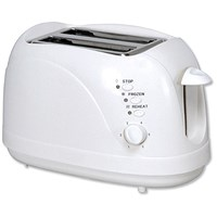 5 Star 2 Slice Toaster with Cool Wall, 700W, White