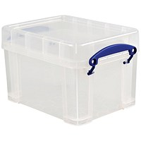 Really Useful Storage Box, 3 Litre, Clear