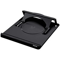 Hama Notebook Laptop Stand, Portable, Variable Angle 0-20 degrees, Black