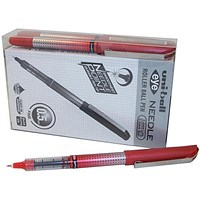 Uni-ball UB-185S Eye Needle Pen Stainless Steel Point, Micro, 0.3mm Line, Red, Pack of 12 + 2 FREE