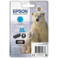 Epson 26XL High Yield Cyan Inkjet Cartridge