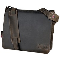 Pride and Soul Ben Shoulder Laptop Bag, Leather, Brown