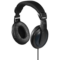 Padded Over-Ear Stereo Headphones, 6m Cable, Black