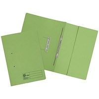 5 Star Pocket Transfer Files, 380gsm, Foolscap, Green, Pack of 25