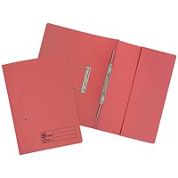 5 Star Pocket Transfer Files, 380gsm, Foolscap, Red, Pack of 25