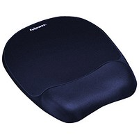 Fellowes Memory Foam Mousepad with Wrist Support - Blue