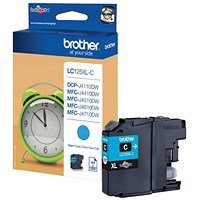 Brother LC125XLC High Yield Cyan Inkjet Cartridge