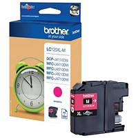 Brother LC125XLM High Yield Magenta Inkjet Cartridge
