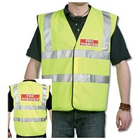 Hi-Visibility Fire Warden Vest - Medium