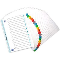 Elba Subject Dividers, Extra Wide, A-Z, Multicoloured Tabs, A4, White