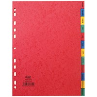 Elba Heavyweight Dividers, Jan-Dec, A4, Assorted