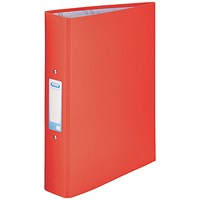 Elba Ring Binder, A4, 2 O-Ring, 25mm Capacity, Red