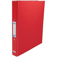 Elba Ring Binder, A4+, 2 O-Ring, Gloss Finish, 25mm Capacity, Red