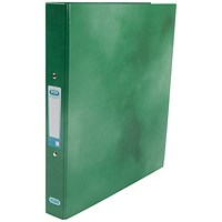 Elba Ring Binder, A4+, 2 O-Ring, Gloss Finish, 25mm Capacity, Green