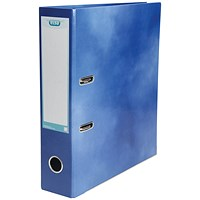 Elba A4 Lever Arch File, Laminated, Blue
