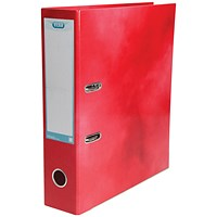 Elba A4 Lever Arch File, Laminated, Red