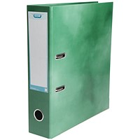 Elba A4 Lever Arch File, Laminated, Green