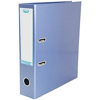 Elba A4 Lever Arch File, Laminated, Metallic Blue