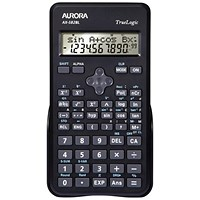 Aurora Scientific Calculator 2 Line Display / 240 Functions / Black