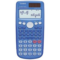 Casio Scientific Calculator Natural Display / 260 Functions / Blue