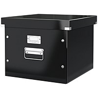 Leitz WOW Click & Store Archive Box For A4 Suspension Files - Black