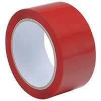 Polypropylene Tape, 50mmx66m, Red, Pack of 6