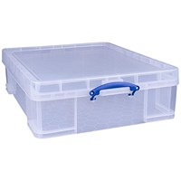 Really Useful Storage Box, 70 Litre, Clear