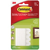 Command Picture Hanging Strips, Small, Pack of 4