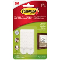 Command Picture Hanging Strips, Medium, Pack of 4