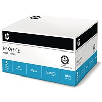 HP A3 Multifunctional Printing Paper, White, 80gsm, Box (5 x 500 Sheets)