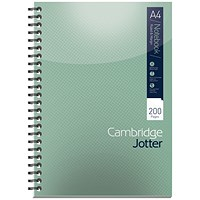 Cambridge Jotter Wirebound Notebook, A4, Ruled, 200 Pages, Pack of 3