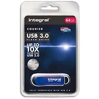 Integral Courier USB 3.0 Flash Drive - 64GB