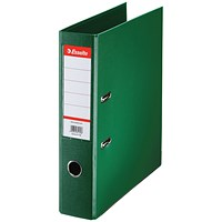 Esselte No. 1 Power A4 Lever Arch Files, Green, Pack of 10