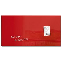 Sigel Artverum Tempered Glass Board / Magnetic / W910xH460mm / Red