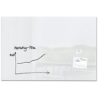 Sigel Artverum Tempered Glass Board, Magnetic, W1500xH1000mm, White