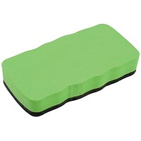 5 Star Drywipe Magnetic Eraser - Lime Green