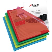 Rexel Cut Flush Folders, A4, Copy-secure, Assorted, Pack of 100