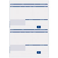 Sage Compatible Payslip, 2 Per A4 Sheet, 1000 Payslips