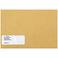 Sage Compatible Wage Envelopes with Window, Self Seal, Manilla, Pack of 1000