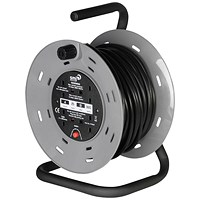 4-Way Extension Reel with Carry Handle, 13 Amp, 25m