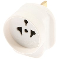 Travel Adaptor European USA & Australian to UK - White