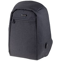 LightPak Safepak Backpack With 15 inch Laptop Case, Polyester, Black