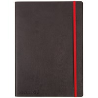 Black n' Red Soft Cover Business Journal / B5 / Numbered Pages / 144 Pages